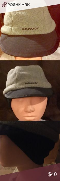8227ffc696389 Vintage Patagonia Synchilla Duckbill Hat Patagonia fleece hat with tuck-in ear  warmer. Adjustable strap in back for multi-size Patagonia Accessories Hats