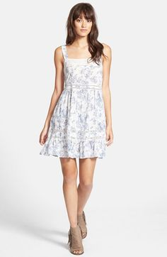 Wildfox Floral Print Lace Trim Slipdress available at #Nordstrom