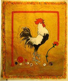 Rooster Art Quilt