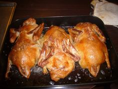 Best roast duck recipe from who else but Ina Garten.  Easy to follow and produces crispy skin & juicy meat.  Yum!