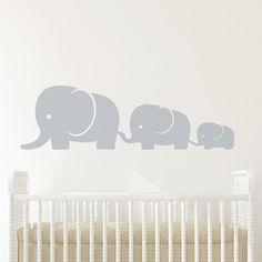 Elephant Family Baby Wall Decal Vinyl Wall Sticker Nursery on Etsy, € Nursery Stickers, Nursery Wall Stickers, Vinyl Wall Stickers, Wall Vinyl, Elephant Family, Elephant Nursery, Sheep Nursery, Grey Elephant, Ballerina Nursery