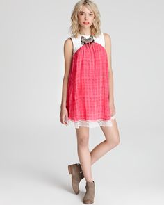 Free People Dress - Crinkle Strawberry Fields | Bloomingdale's