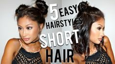 5 EASY Hairstyles for SHORT Hair!!!