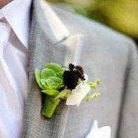 Mixed foliage buttonhole