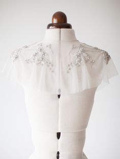 Bridal Cover up Wedding Attire Coverup Crystal cape by sibodesigns
