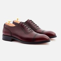 *SECONDS* Durant Oxford Brogues - Calfskin Leather - Bordeaux