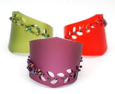 Statement cuffs by Raj Burnett jewellery. The colours will make any outfit pop!