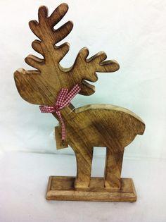 Deko-Objekte - Rentier Holz sehr schön - ein Designerstück von Haus-und-Garten-Schier bei DaWanda