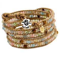 Sand Dunes Semi Precious Five Wrap Bracelet