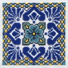 Acapulco Tile Cross Stitch Pattern by RandeeK on Etsy