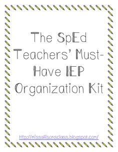 IEP Organization Kit.pdf - Google Drive. Repinned by SOS Inc. Resources pinterest.com/sostherapy/.