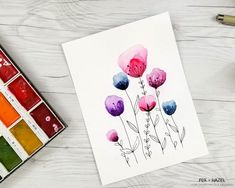 How to Paint Easy Watercolor Flowers Tutorial - Fox + Hazel for Dawn Nicole Designs 16