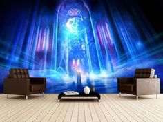 Truth wall mural room setting