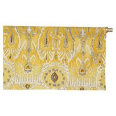 Add a touch of style to your living room, home office, or master bedroom with this chic window treatment.   Product: ValanceConstruction Material: CottonColor: LemonFeatures: 2 Rod pocket1 HeaderMade in the USA Dimensions: 16 H x 50 W Cleaning and Care: Spot clean