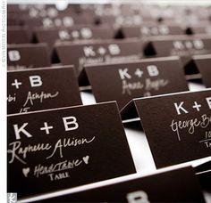 love the handwritten escort cards #wedding