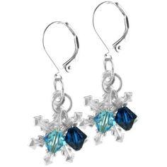 Snowflake earrings- Latest Christmas Jewelry Gift Ideas for Her Xmas Jewelry Trends Wire Jewelry, Jewelry Gifts, Beaded Jewelry, Jewellery Box, Jewellery Shops, Jewelry Stores, Jewelry Roll, Beaded Bracelet, Jewelry Bracelets