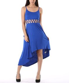 Look at this Heart & Hips Royal Cutout Hi-Low Dress - Women on #zulily today!