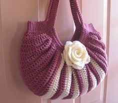 Crochet fat bottom summer shoulder bag fashion by MyNicePurses