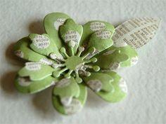 Gorgeous Dimensional Flowers DIY - #diy, Flowers