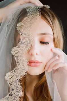 Lacy Gilded French Lace mantilla veil in Ivory Gold Catholic Veil, Mantilla Veil, Bridesmaid Robes, Gold Lace, Chantilly Lace, French Lace, Wedding Photoshoot, Wedding Hairstyles, Tulle