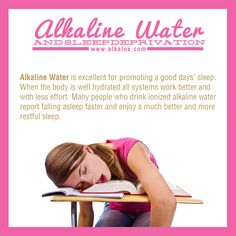 Alkaline Water and Sleep Deprivation | For more info about Alkaline Water: http://www.alkalux.com/knowledge-base/about-alkaline-water.html