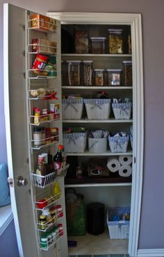 pantry...like the idea of using the space on the back of the door.