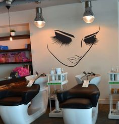 Lashes Makeup Wall Decor Salon Decal Sticker by VinylWallArtworks