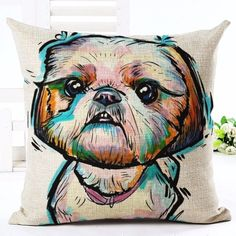 Are you a Dog Lover? Then these custom designed Premium Linen Pillow Covers are a MUST HAVE! Each cover features a one-sided print and is finished with a concealed zipper for ease of care. Each pillow