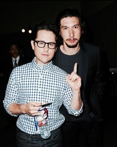 J.J Abrams and Adam Driver at an event for Star Wars: The Force Awakens at San Diego Comic Con, July 11, 2015