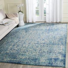 Safavieh Evoke Vintage Oriental Blue/ Ivory Distressed Rug (9u0027 X 12u0027)