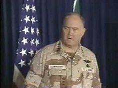 1990-91 Gulf War briefing General Norman Schwarzkopf part 1