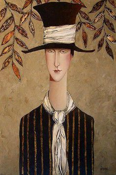 """the top hat"" Joe Cocker, Illustrations, Illustration Art, Danny Mcbride, Romanticism Artists, Amedeo Modigliani, Art Journal Inspiration, Girl With Hat, Art Pages"