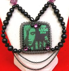 Night of the Living Dead necklace Halloween by whiskeydarling, $46.00