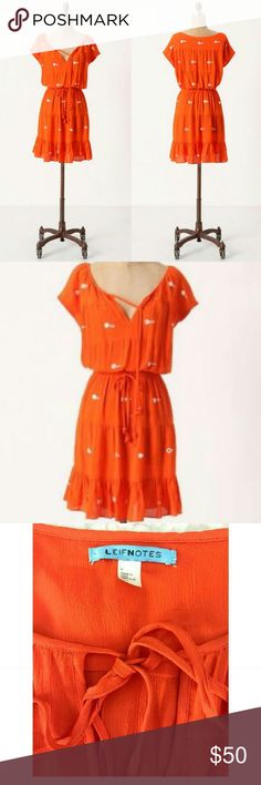 Anthropologie Leifnotes Mirror mini dress 0 New. Never worn. Tag was removed. Size 0. No stains or tears anywhere. Bundles of two or more items get the best deals. Reasonable offers are welcome. No trades please. Do not ask me to deal outside of poshmark. Anthropologie Dresses