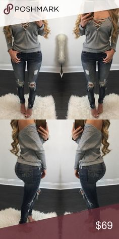 Dark Blue Distressed Skinnies ✅20% off 2 or more item bundles  ✅Boutique etiquette please, I do not trade.  ✅Price are firm unless otherwise stated.  ✅Reasonable offers 10-15% off the listed price. #196 stretchy fabric Low rise 98% cotton 2% spandex. Fashion In LA Jeans Skinny