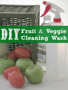 I have found a DIY Fruit & Vegetable Cleaning Wash that works great and for a fraction of the price of those you can buy in the stores!