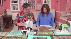 Quilting Arts TV - Episode 1702 - Paint and Stitch Thread Painting, Fabric Painting, Fabric Art, Watercolor Fabric, Creative Textiles, How To Dye Fabric, Dyeing Fabric, Silk Art, Landscape Quilts