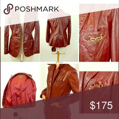 Very cool vintage retro 70s jacket! For sale: Wow! Eitenne Aigner vintage leather jacket medium. Beautiful color gently warn. True retro vintage jacket. #throwback #70sfashion #70s #retrostyle #vintageclothing #jacket #etienneaigneroriginal #etienneaigner #stylish #womensclothing #fashion #forsale #lookswelove #retrorescues Etienne Aigner Jackets & Coats Blazers