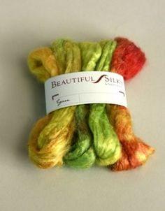Silk fibres - hand dyed Excellent supplies website