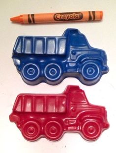 Dump Truck Crayons// LARGE Crayons// Set of 2, Custom Colors, Party Favors, Boys Birthday, First Bilrthday