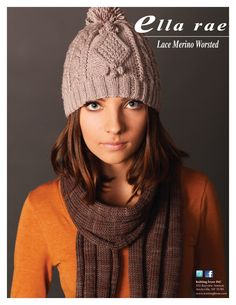 Lace Merino Worsted Beanie & Scarf