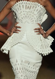 #Fausto Sarli #ON TREND - White, Perforated & Peplums<3