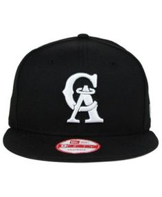 New Era Los Angeles Angels of Anaheim B-Dub 9FIFTY Snapback Cap - Black  White Black Adjustable fac6c5550fd