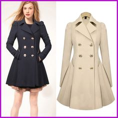 Winter Pea Coat Womens