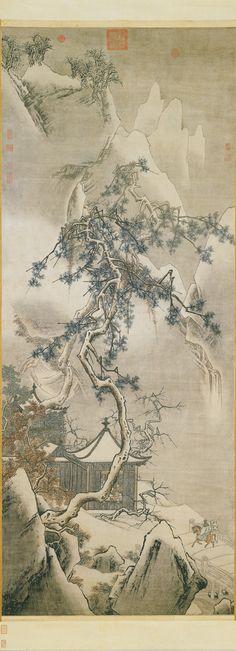 Ma Yuan(馬遠) , 传宋 马远 画雪景 台北故宫藏