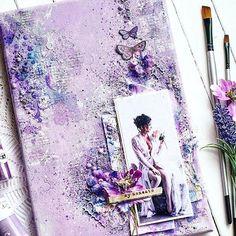 """#Repost @ira_angold  ・・・  Покажу в """"полный рост"""" и больше не буду, обещаю  -----------------------  Масляная пастель, цветы, пудры, штампы, глиттер - @primamarketinginc #скрап #angoldcraft #handmade #create #crafting #canvas #primaflowers #primamarketing #scrapbooking #scrap #scrapiniec #inspiration  #primaoilpastel"""