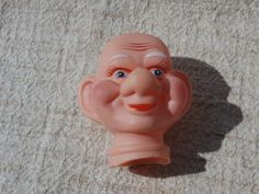 Big Eared Little Man Doll Head Vintage Craft Supply