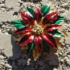 Holiday flower pin - Metallic vT9kvo7nR