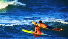 I love surfing with my man!