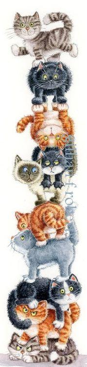 Stacked  Cats #Cat lovers - Join http://facebook.com/OzziCat * Get cat #magazine http://OzziCat.com.au